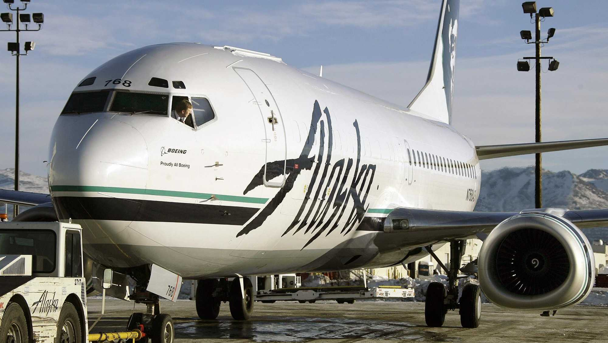 Alaska Airlines modified Boeing 737-400, Anchorage, Alaska