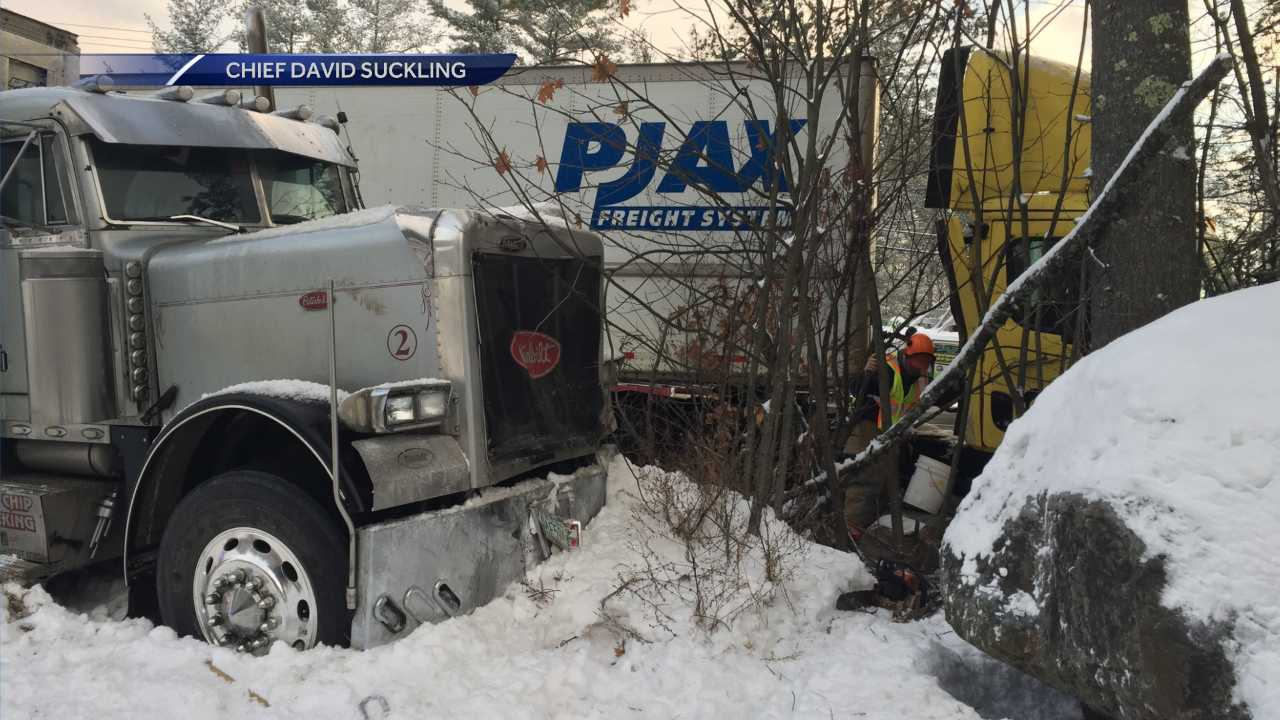 Tractor-trailer crash in Alexandria