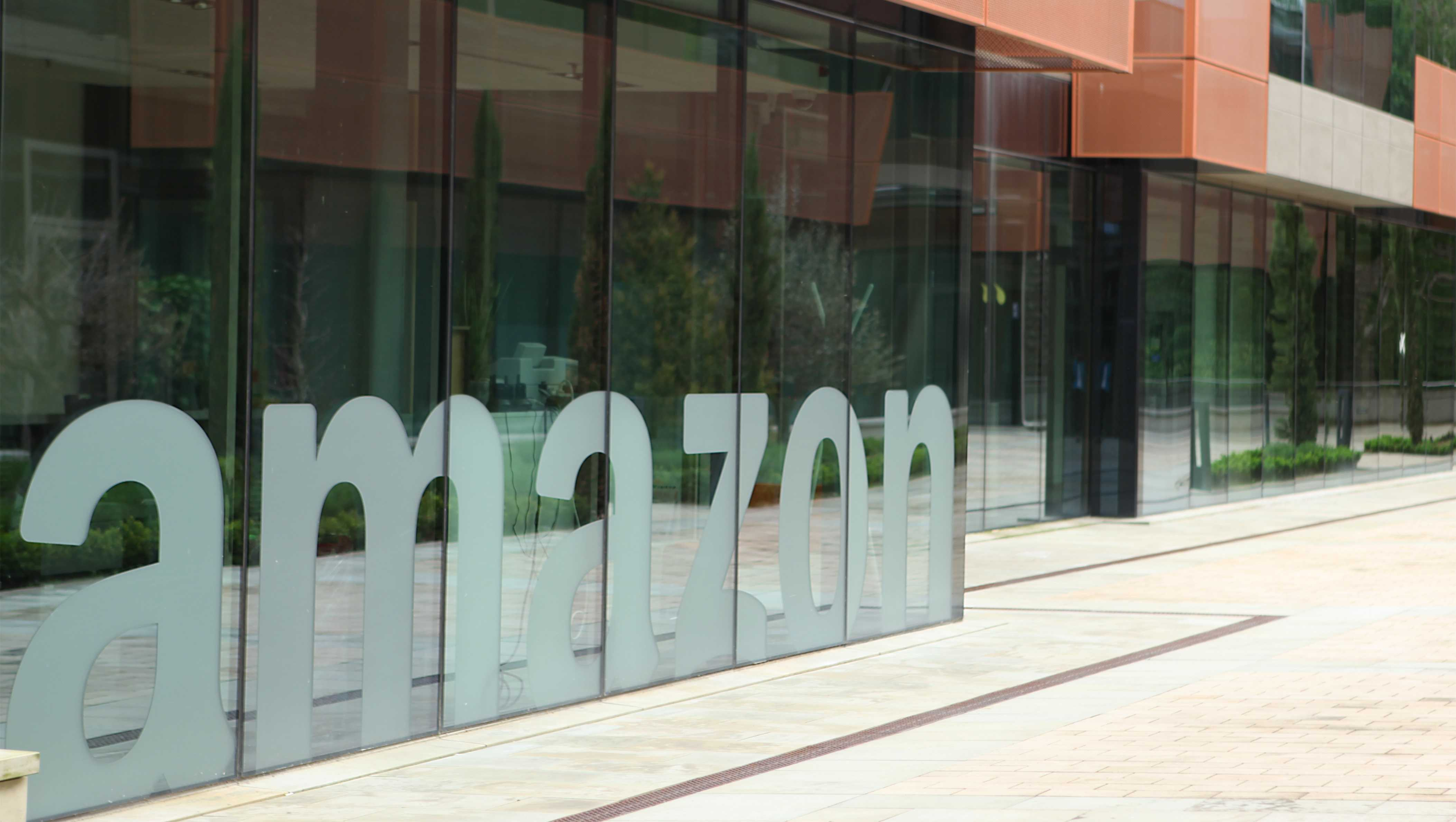 Amazon headquarters in Luxembourg.