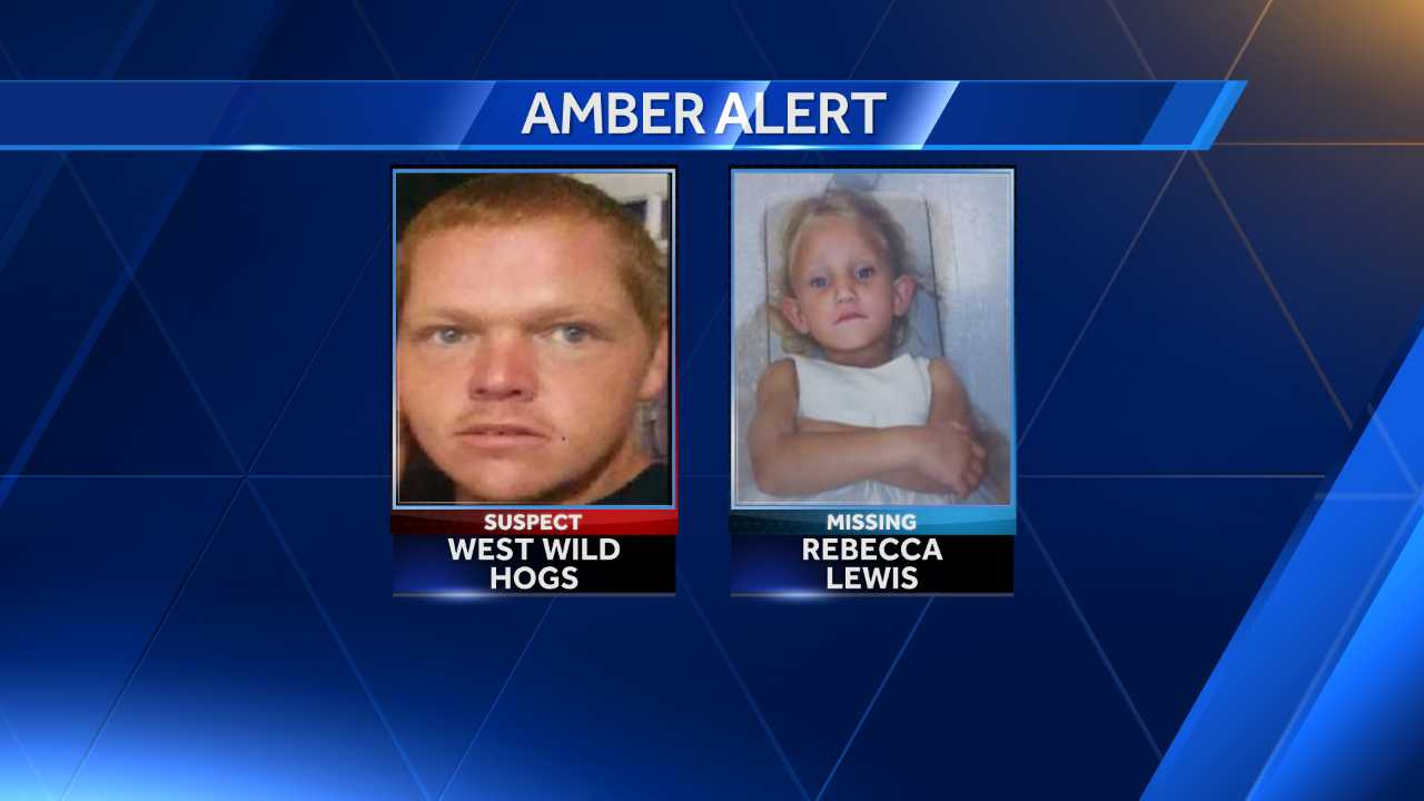 AMBER Alert issued for Rebecca Lewis, 4, believed to have been taken by family friend West Wild Hogs