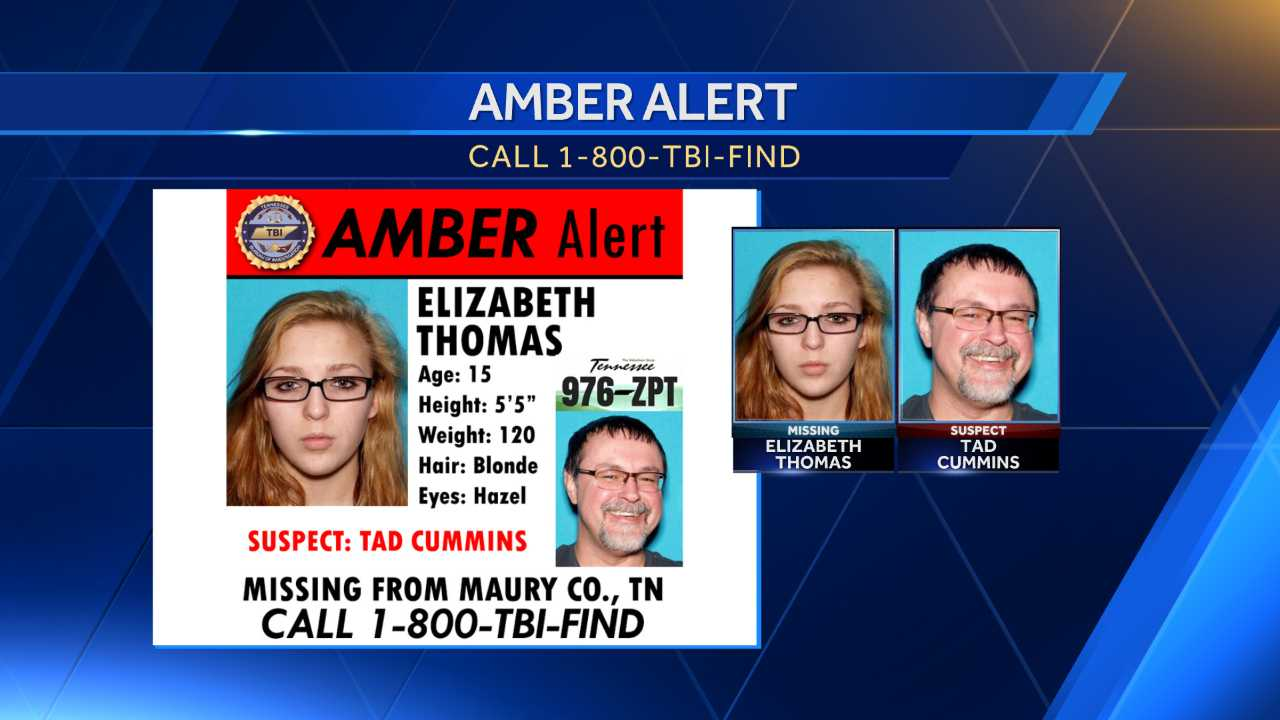 The Tennessee Bureau of Investigation said the agency was doing it as a precaution only, and there have been no sightings south of the U.S. border of either Elizabeth Thomas or her 50-year-old teacher, Tad Cummins. The agency got a tip last week that the teacher's car may have been spotted in Corpus Christi, Texas, but police there were not able to confirm it.