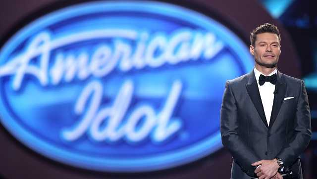 "Ryan Seacrest performs at the ""American Idol"" farewell season finale at the Dolby Theatre on Thursday, April 7, 2016, in Los Angeles."