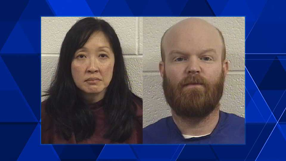 Amy Chan, left, and Brandon Hardison, right