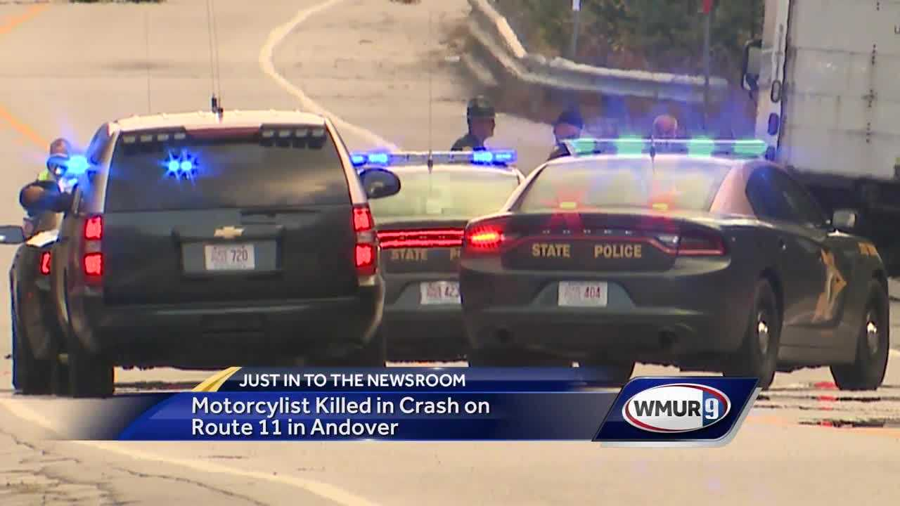 Motorcyclist killed in Andover crash