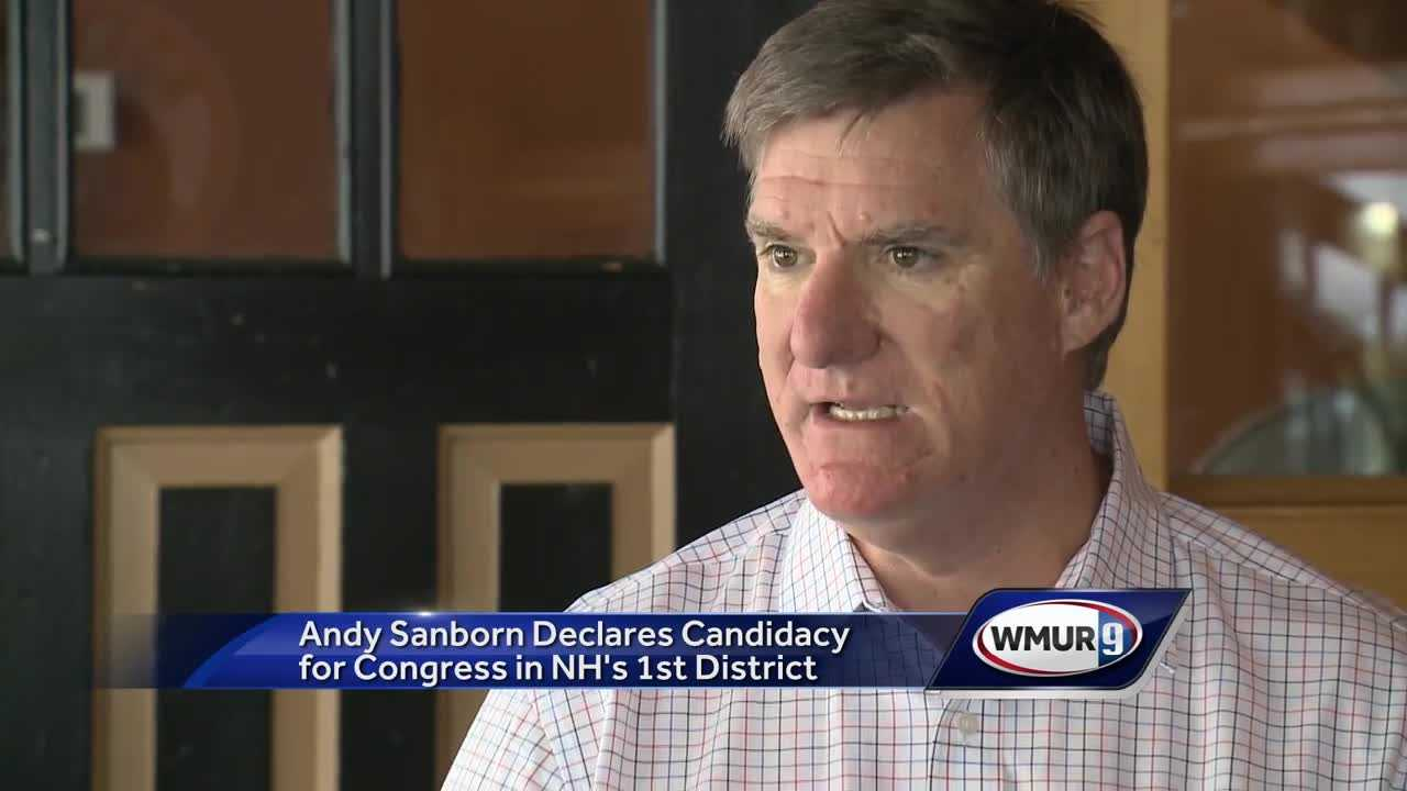 GOP congressional candidate Andy Sanborn shown on the day he announced his candidacy in June.
