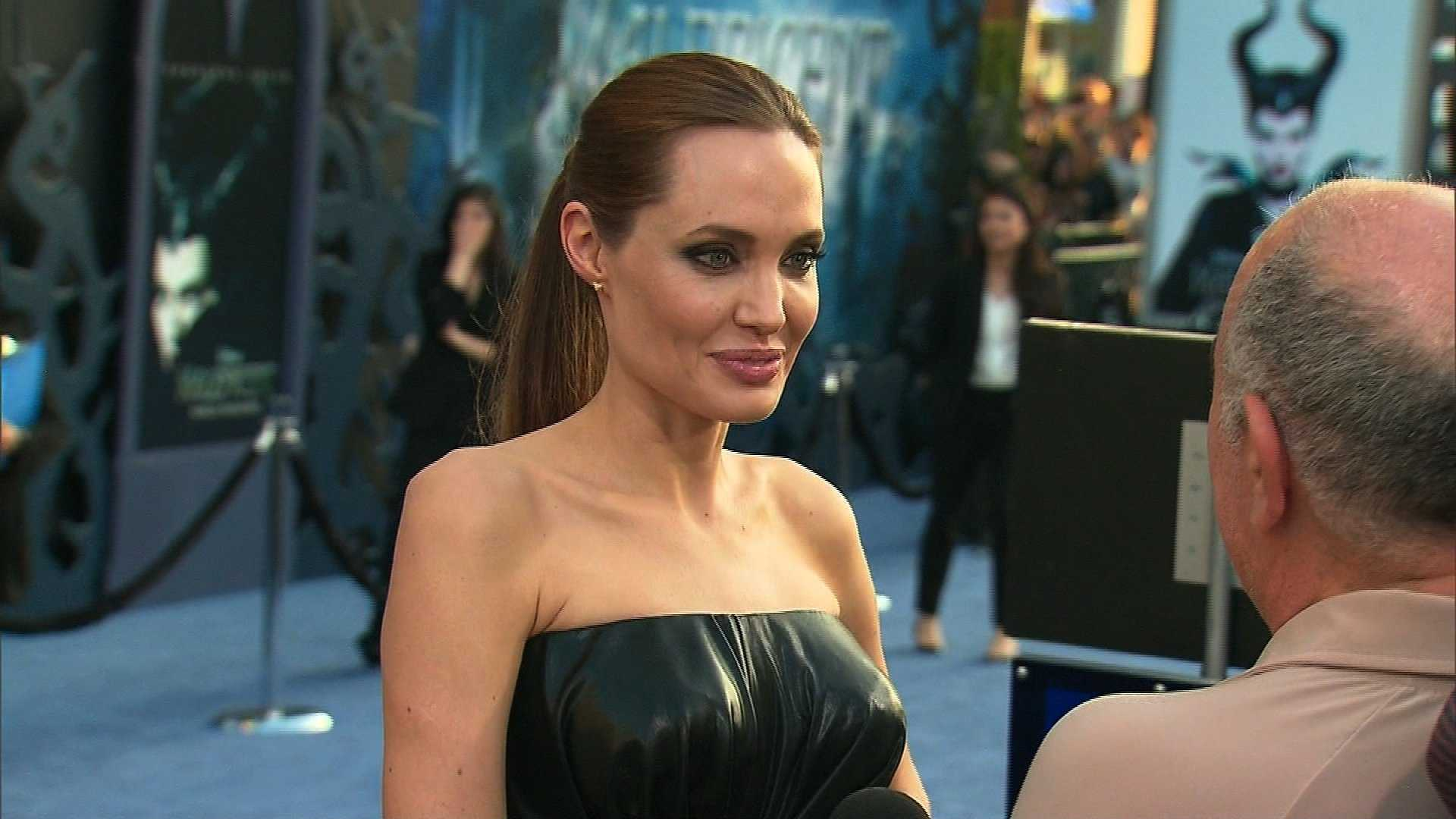 "Actress Angelina Jolie appears at the premiere of ""Maleficent"" May 28, 2014."