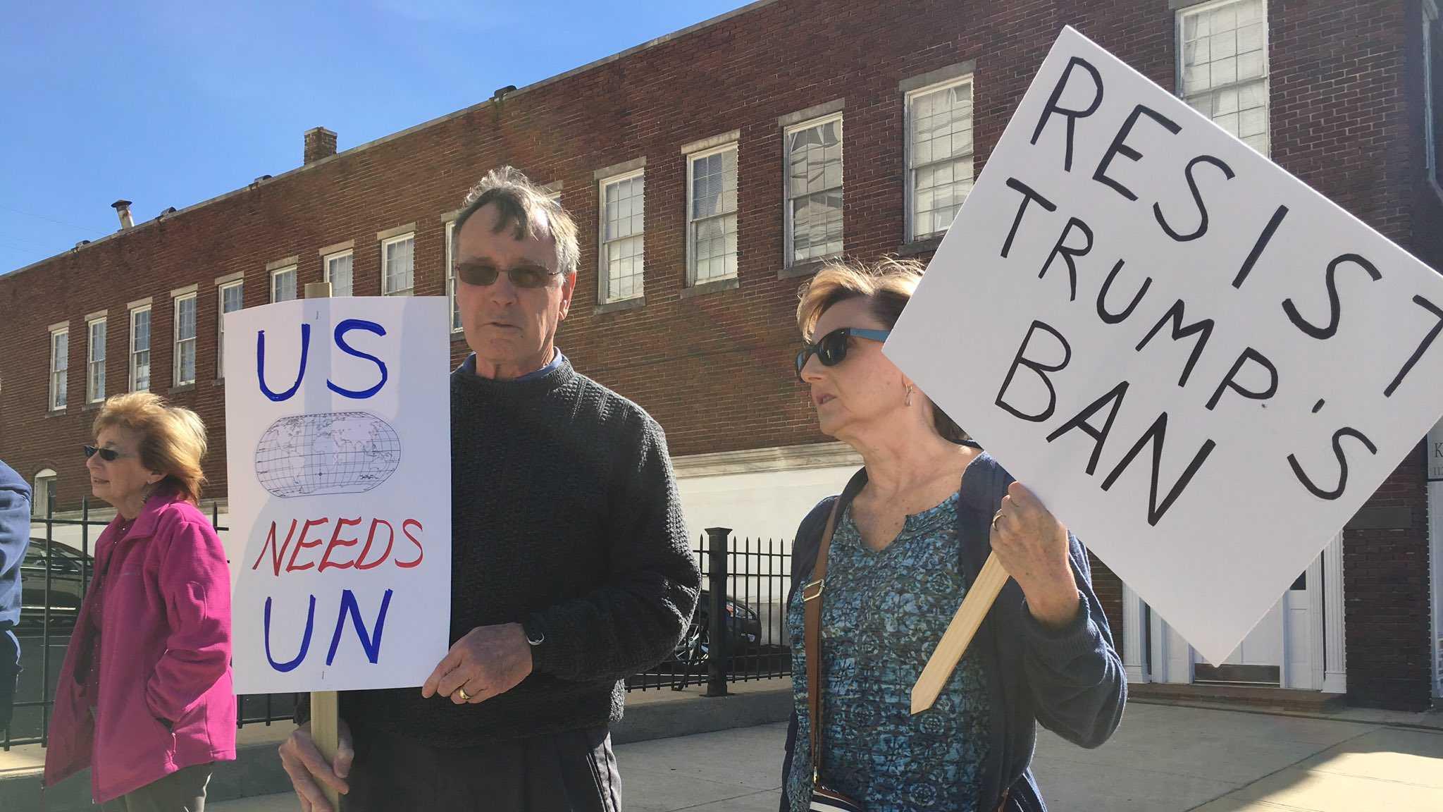 """Resist Trump"" protest in Anniston"