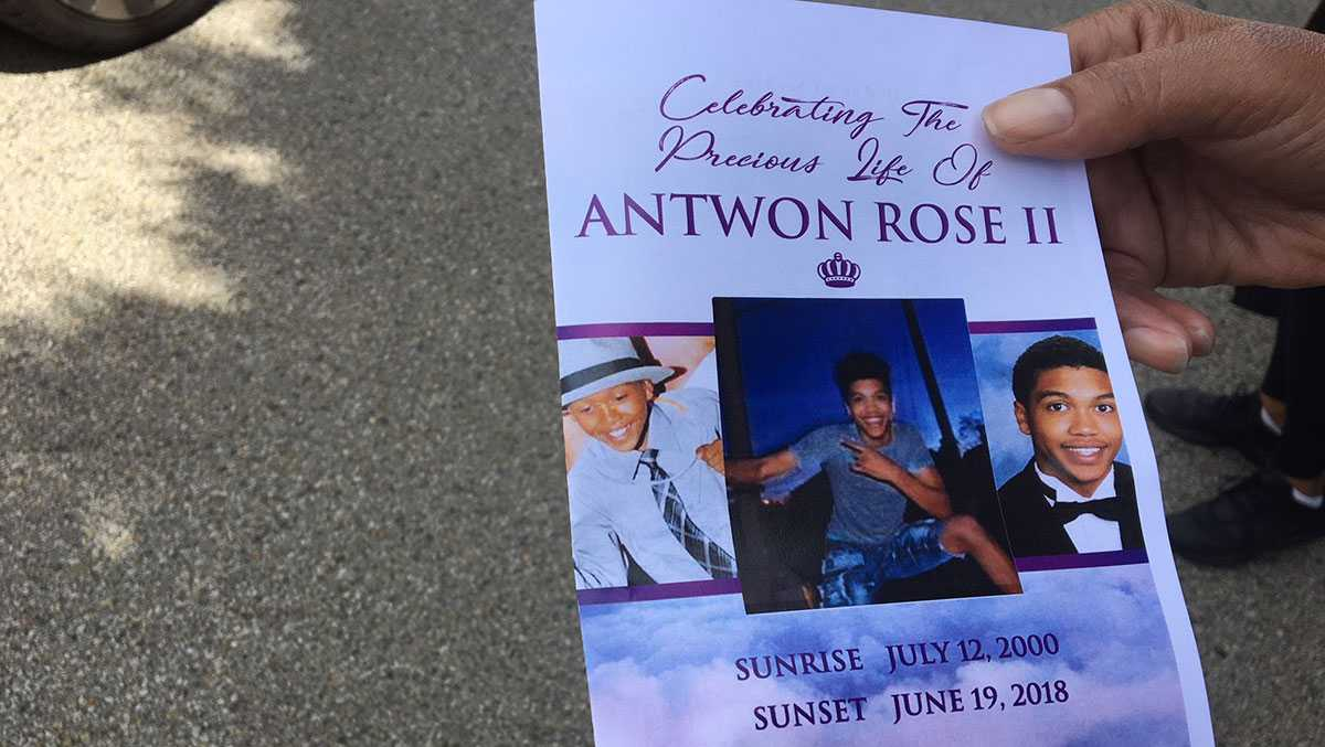 Antwon Rose funeral program