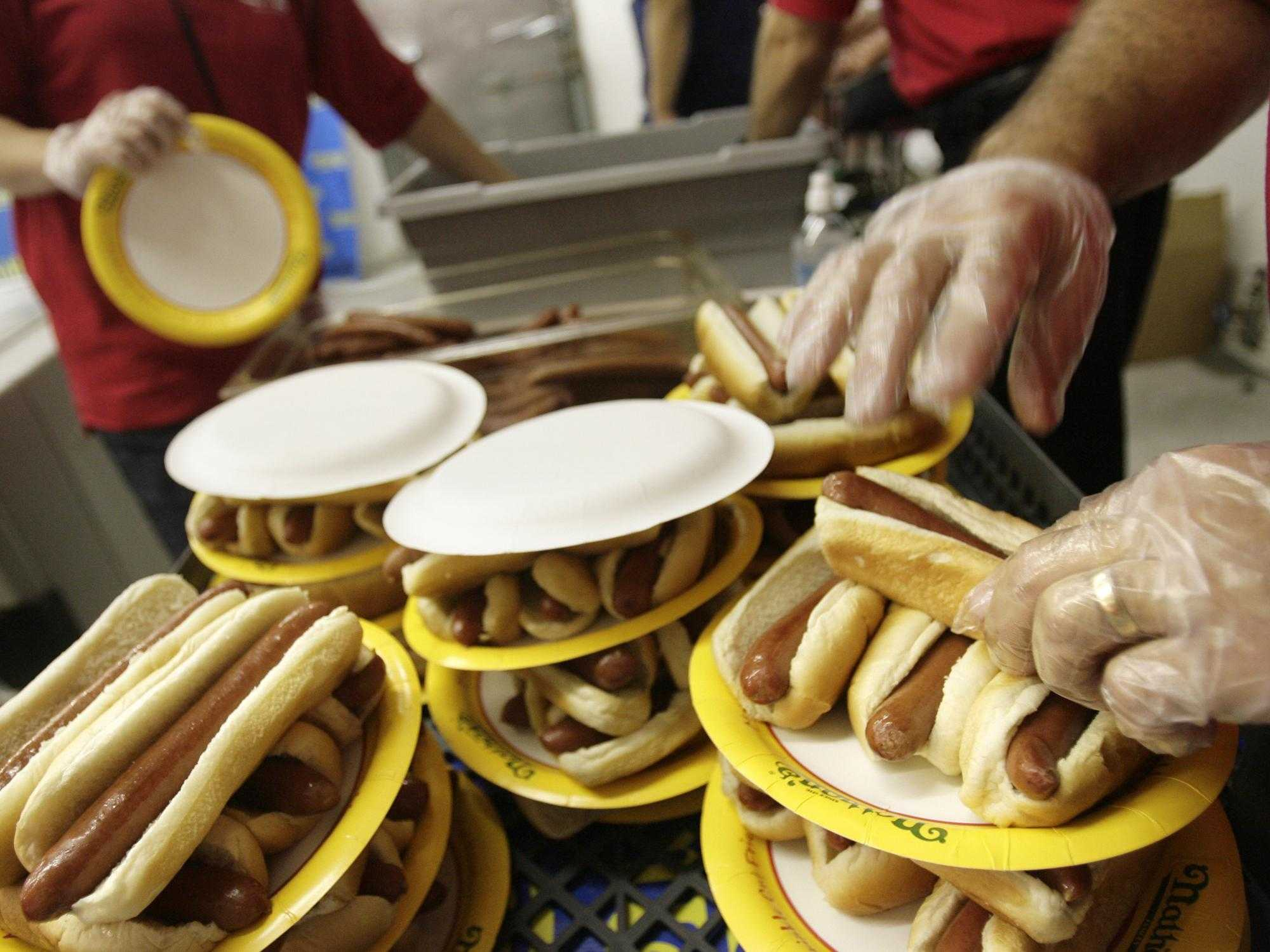 Woman wins famous hot dog eating contest