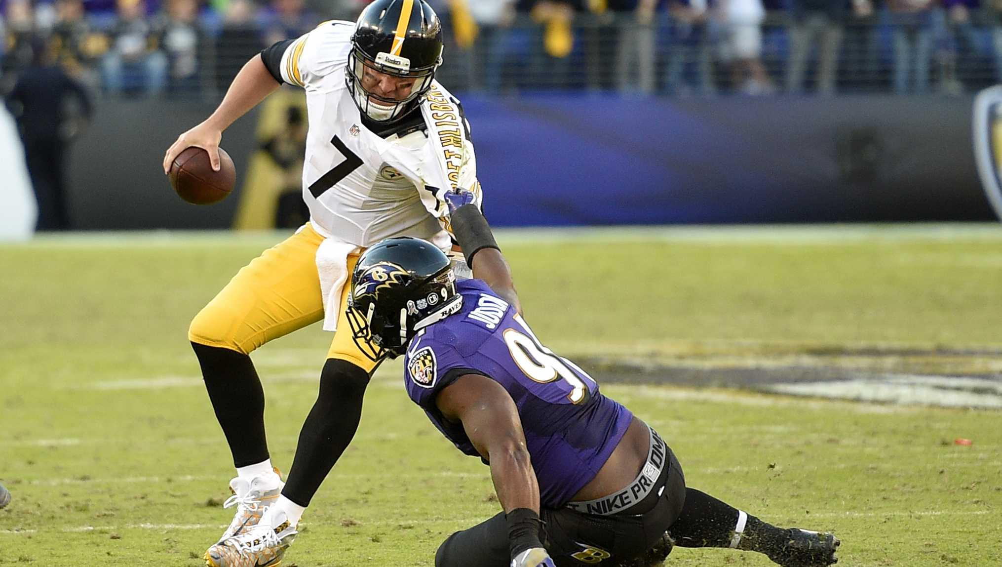 Ben Roethlisberger sacked by Baltimore Ravens LB Matt Judon