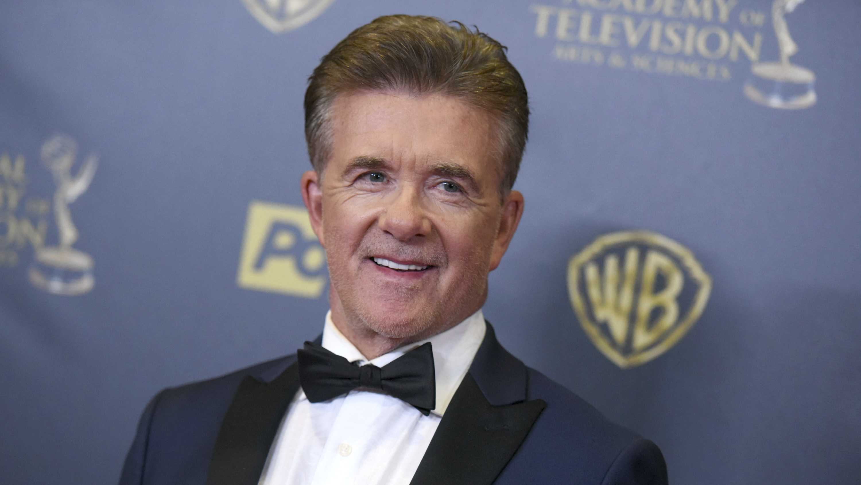 In this Sunday, April 26, 2015 file photo, Alan Thicke poses in the pressroom at the 42nd annual Daytime Emmy Awards at Warner Bros. Studios in Burbank, Calif.