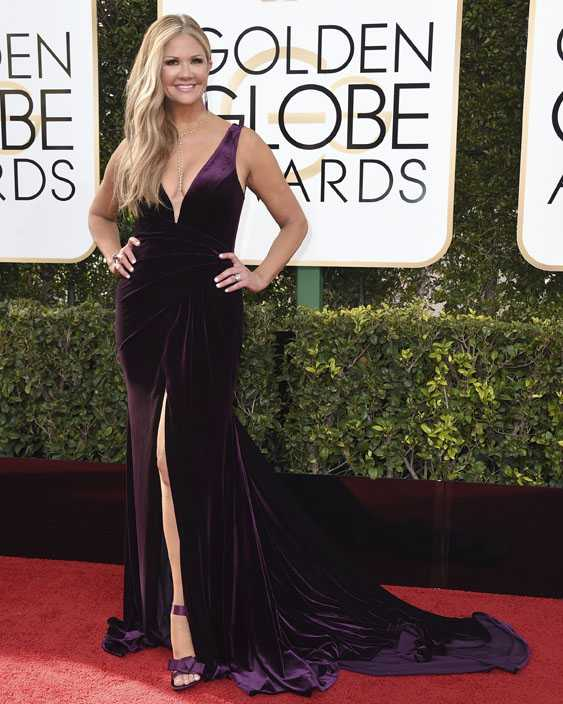 Nancy O'Dell arrives at the 74th annual Golden Globe Awards at the Beverly Hilton Hotel on Sunday, Jan. 8, 2017, in Beverly Hills, Calif.