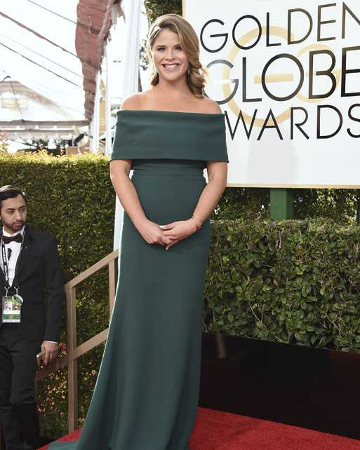 Jenna Bush Hager arrives at the 74th annual Golden Globe Awards at the Beverly Hilton Hotel on Sunday, Jan. 8, 2017, in Beverly Hills, Calif. (Photo by Jordan Strauss/Invision/AP)
