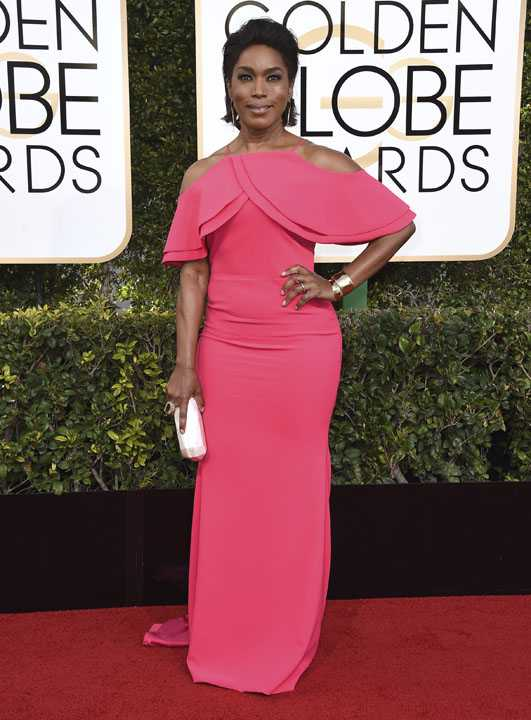 Angela Bassett arrives at the 74th annual Golden Globe Awards at the Beverly Hilton Hotel on Sunday, Jan. 8, 2017, in Beverly Hills, Calif. (Photo by Jordan Strauss/Invision/AP)