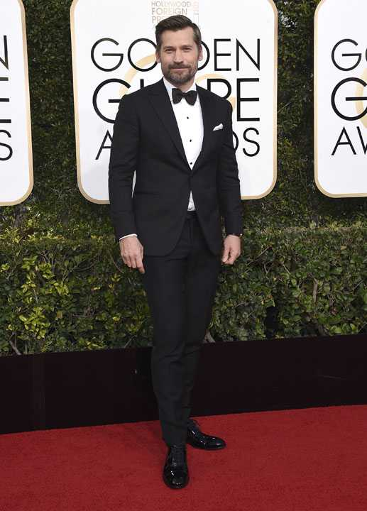Nikolaj Coster-Waldau arrives at the 74th annual Golden Globe Awards at the Beverly Hilton Hotel on Sunday, Jan. 8, 2017, in Beverly Hills, Calif. (Photo by Jordan Strauss/Invision/AP)