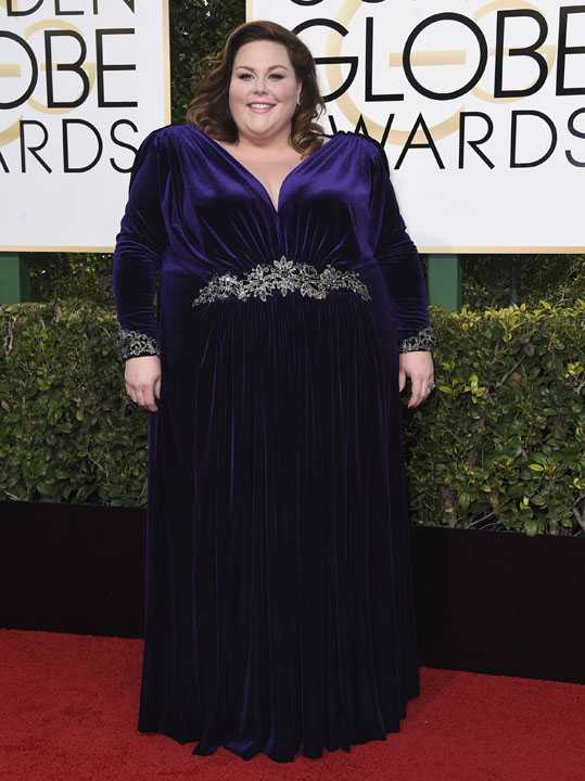 Chrissy Metz arrives at the 74th annual Golden Globe Awards at the Beverly Hilton Hotel on Sunday, Jan. 8, 2017, in Beverly Hills, Calif. (Photo by Jordan Strauss/Invision/AP)