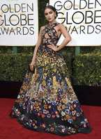 Olivia Culpo arrives at the 74th annual Golden Globe Awards at the Beverly Hilton Hotel on Sunday, Jan. 8, 2017, in Beverly Hills, Calif. (Photo by Jordan Strauss/Invision/AP)