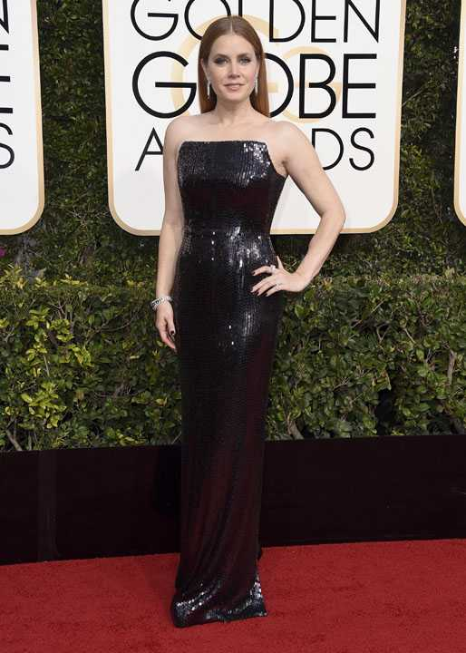 Amy Adams arrives at the 74th annual Golden Globe Awards at the Beverly Hilton Hotel on Sunday, Jan. 8, 2017, in Beverly Hills, Calif. (Photo by Jordan Strauss/Invision/AP)