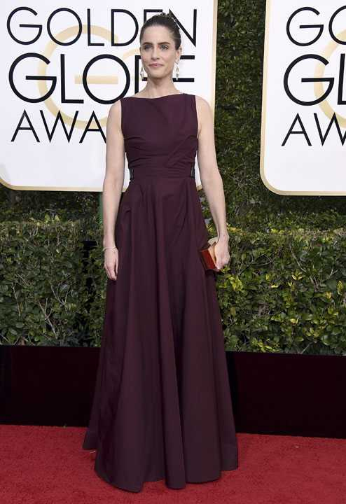 Amanda Peet arrives at the 74th annual Golden Globe Awards at the Beverly Hilton Hotel on Sunday, Jan. 8, 2017, in Beverly Hills, Calif. (Photo by Jordan Strauss/Invision/AP)