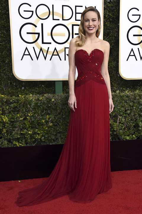 Brie Larson arrives at the 74th annual Golden Globe Awards at the Beverly Hilton Hotel on Sunday, Jan. 8, 2017, in Beverly Hills, Calif. (Photo by Jordan Strauss/Invision/AP)