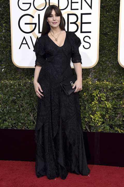 Monica Bellucci arrives at the 74th annual Golden Globe Awards at the Beverly Hilton Hotel on Sunday, Jan. 8, 2017, in Beverly Hills, Calif. (Photo by Jordan Strauss/Invision/AP)