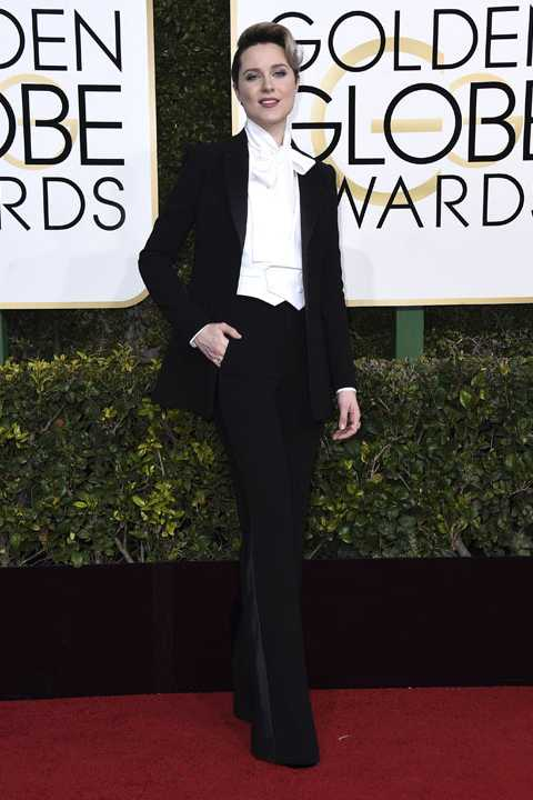 Evan Rachel Wood arrives at the 74th annual Golden Globe Awards at the Beverly Hilton Hotel on Sunday, Jan. 8, 2017, in Beverly Hills, Calif. (Photo by Jordan Strauss/Invision/AP)