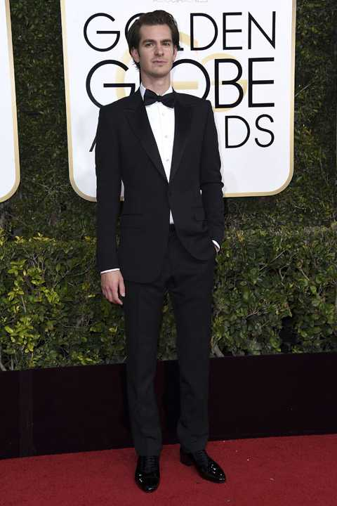 Andrew Garfield arrives at the 74th annual Golden Globe Awards at the Beverly Hilton Hotel on Sunday, Jan. 8, 2017, in Beverly Hills, Calif. (Photo by Jordan Strauss/Invision/AP)