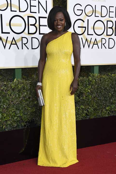 Viola Davis arrives at the 74th annual Golden Globe Awards at the Beverly Hilton Hotel on Sunday, Jan. 8, 2017, in Beverly Hills, Calif. (Photo by Jordan Strauss/Invision/AP)
