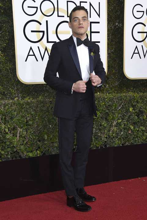 Rami Malek arrives at the 74th annual Golden Globe Awards at the Beverly Hilton Hotel on Sunday, Jan. 8, 2017, in Beverly Hills, Calif. (Photo by Jordan Strauss/Invision/AP)
