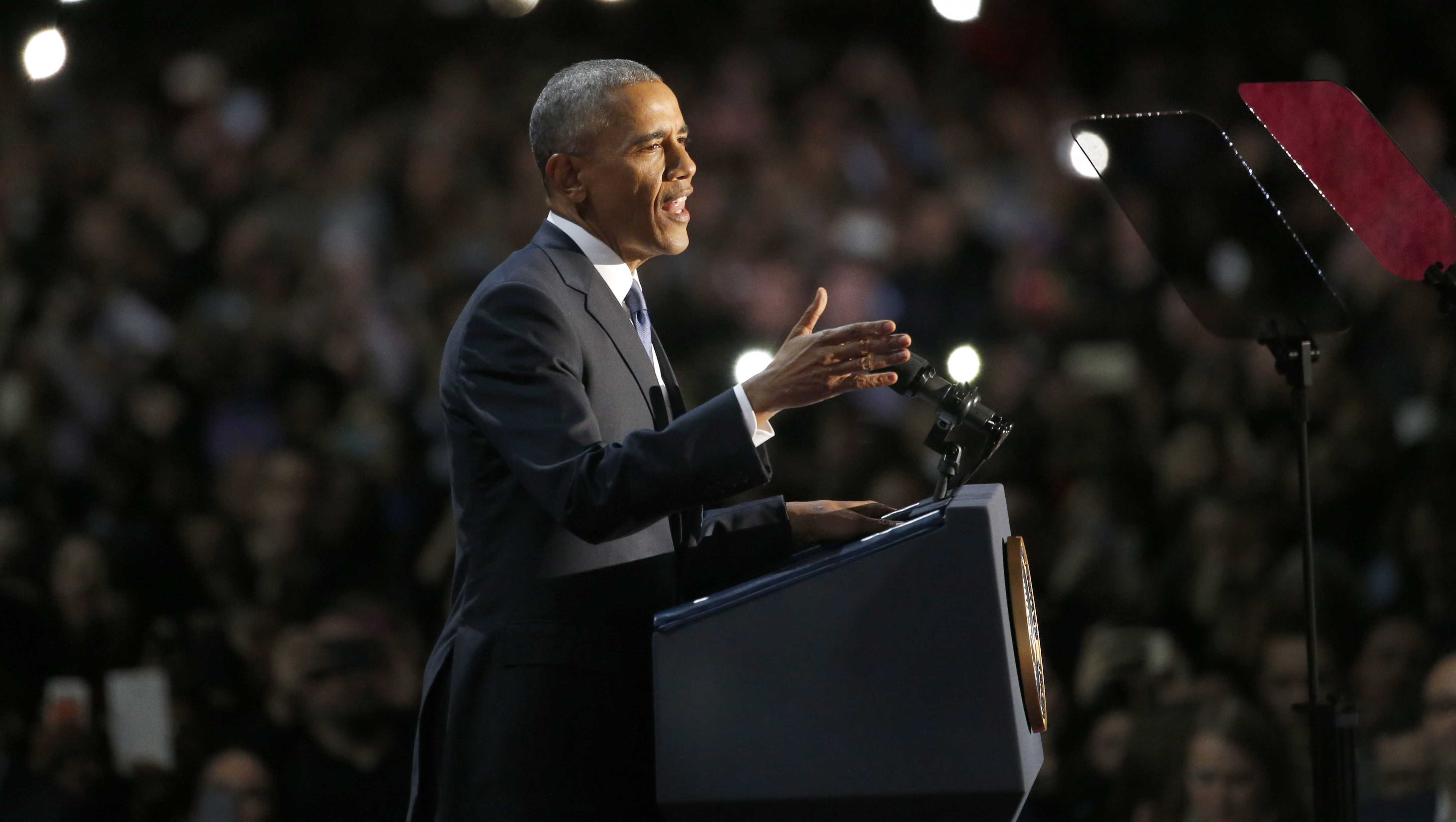 President Barack Obama delivered his farewell address in Chicago.