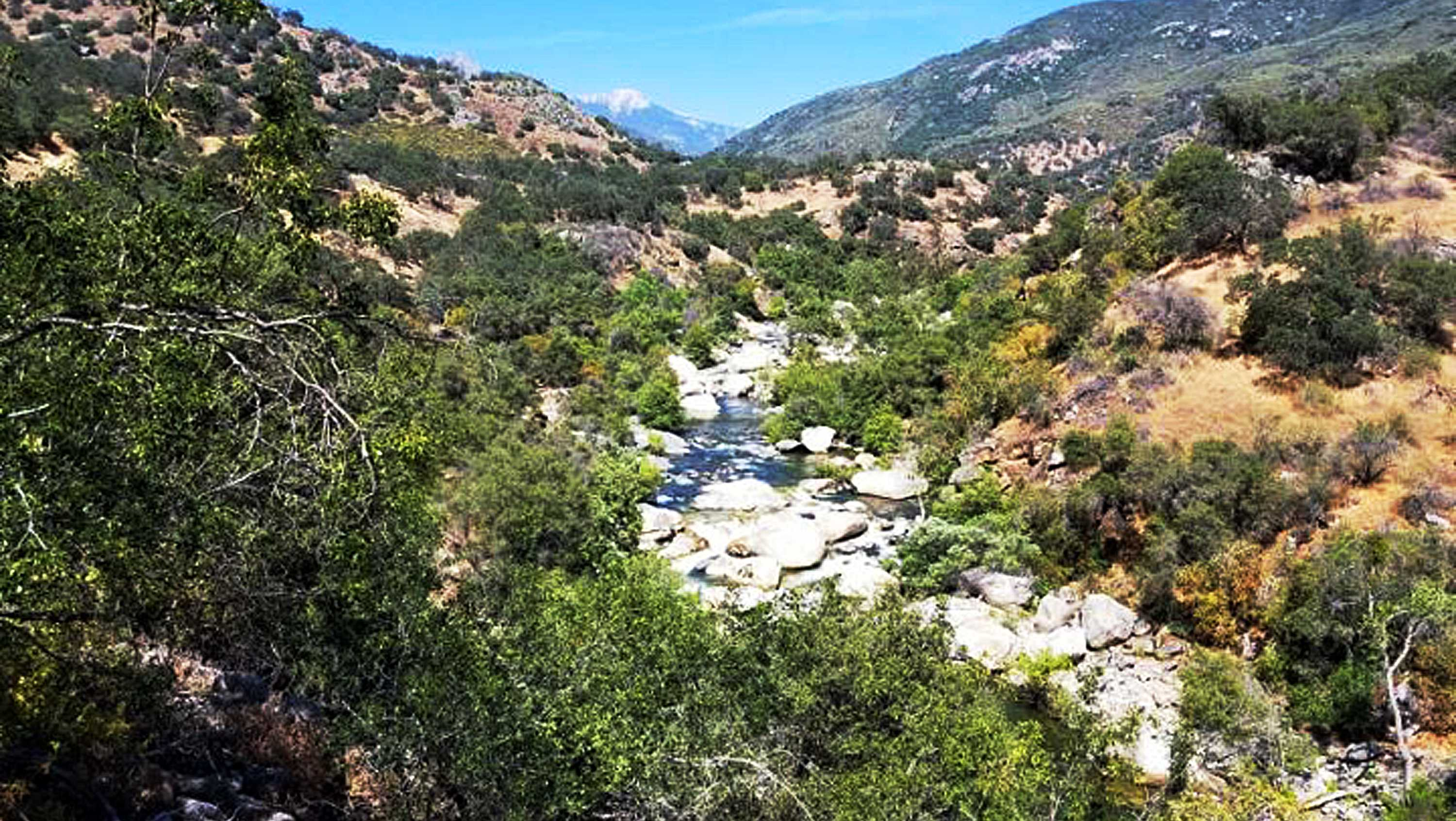 Kaweah River inthe  Sequoia National Park in California's Sierra Nevada