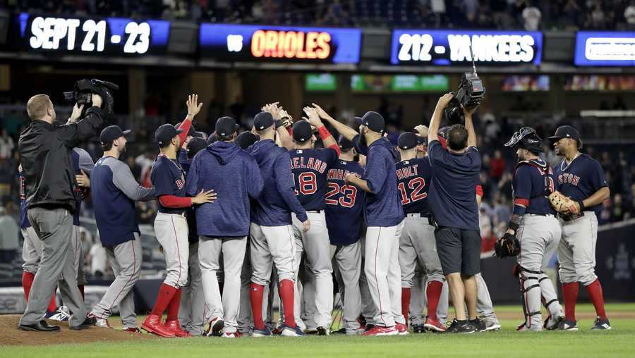 pop the champagne the red sox are al east champions