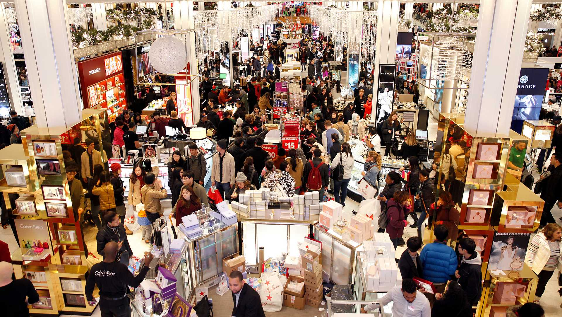 Shoppers Take Advantage Of Black Friday Door Buster Deals At Macyu0027s Herald  Square On Thursday,