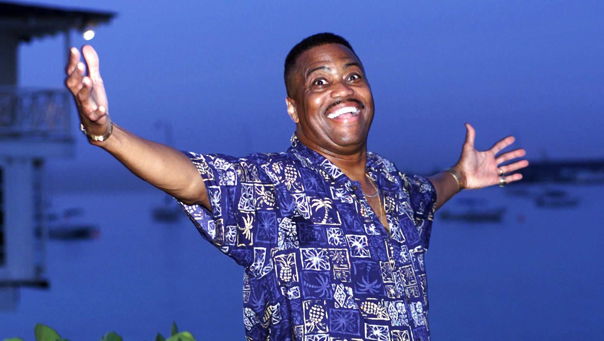 Cuba Gooding Sr. lead vocalist of the legendary r&b/pop group The Main Ingredient, and father of Oscar winning actor Cuba Gooding Jr., gestures during an interview in Bridgetown, Barbados, Wednesday, Aug. 18, 1999.