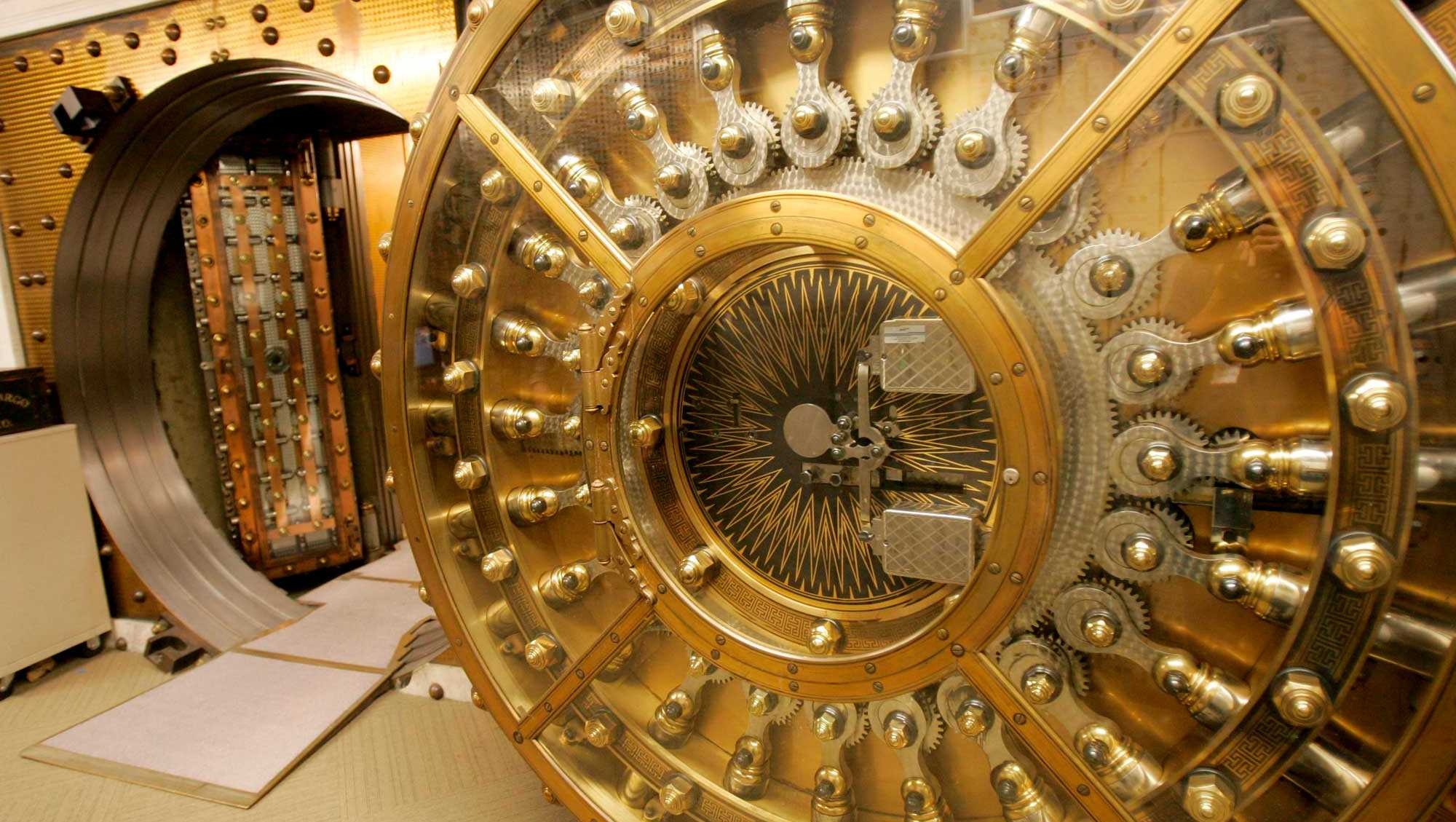 Bank vault file photo