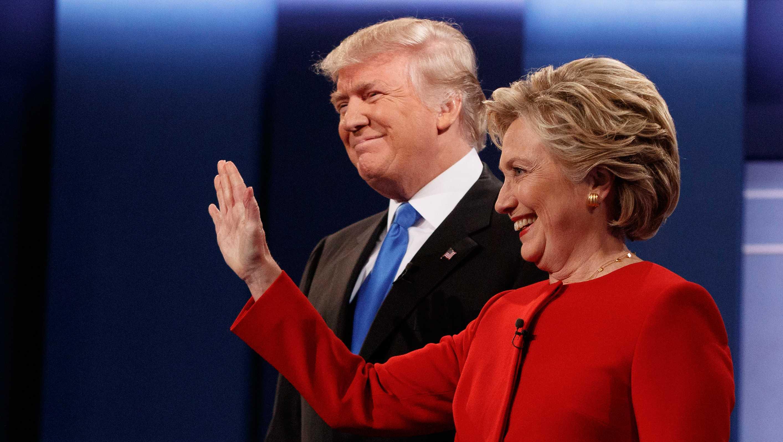 Clinton and Trump post debate