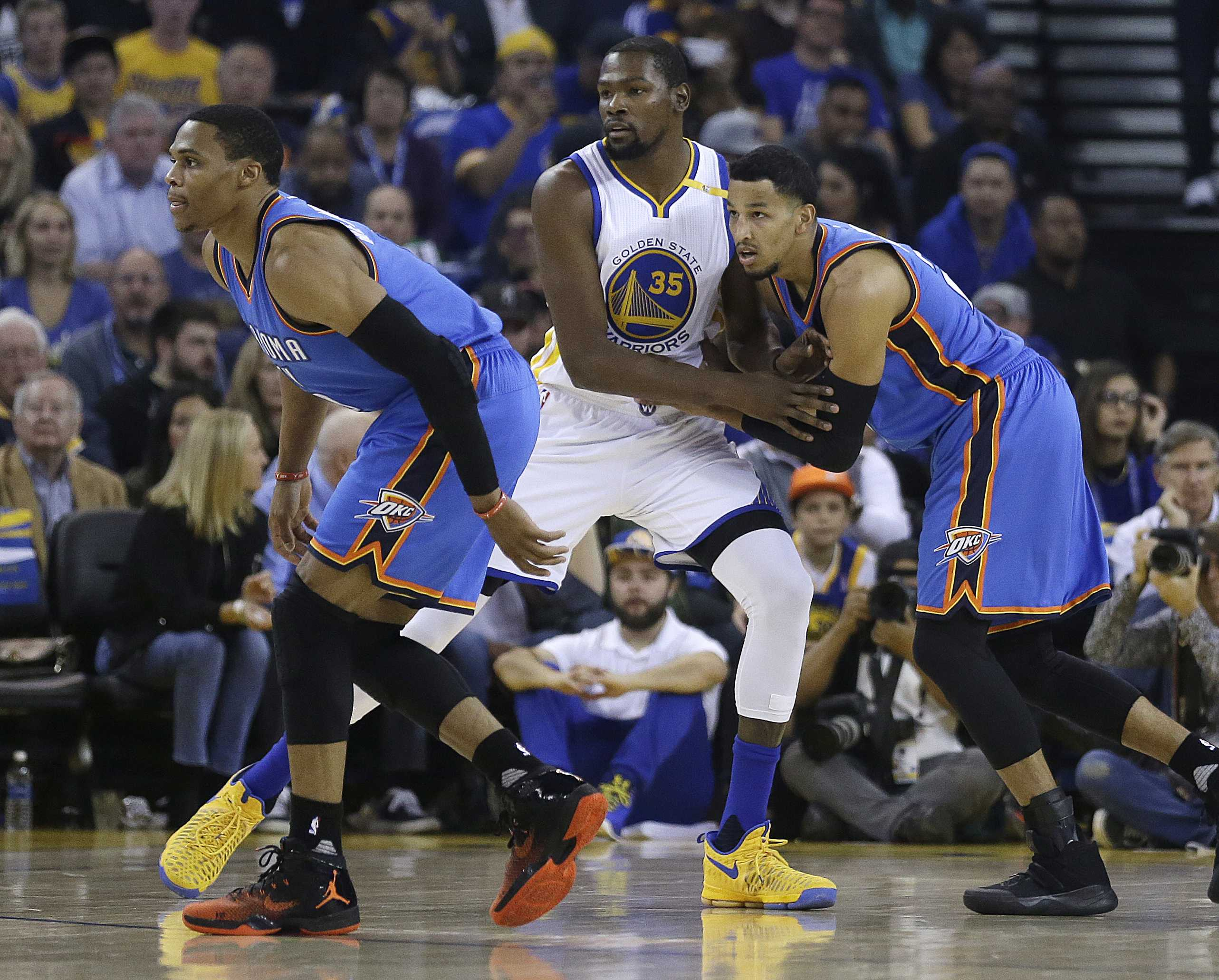 Kendrick Perkins says Westbrook, Durant are on speaking terms