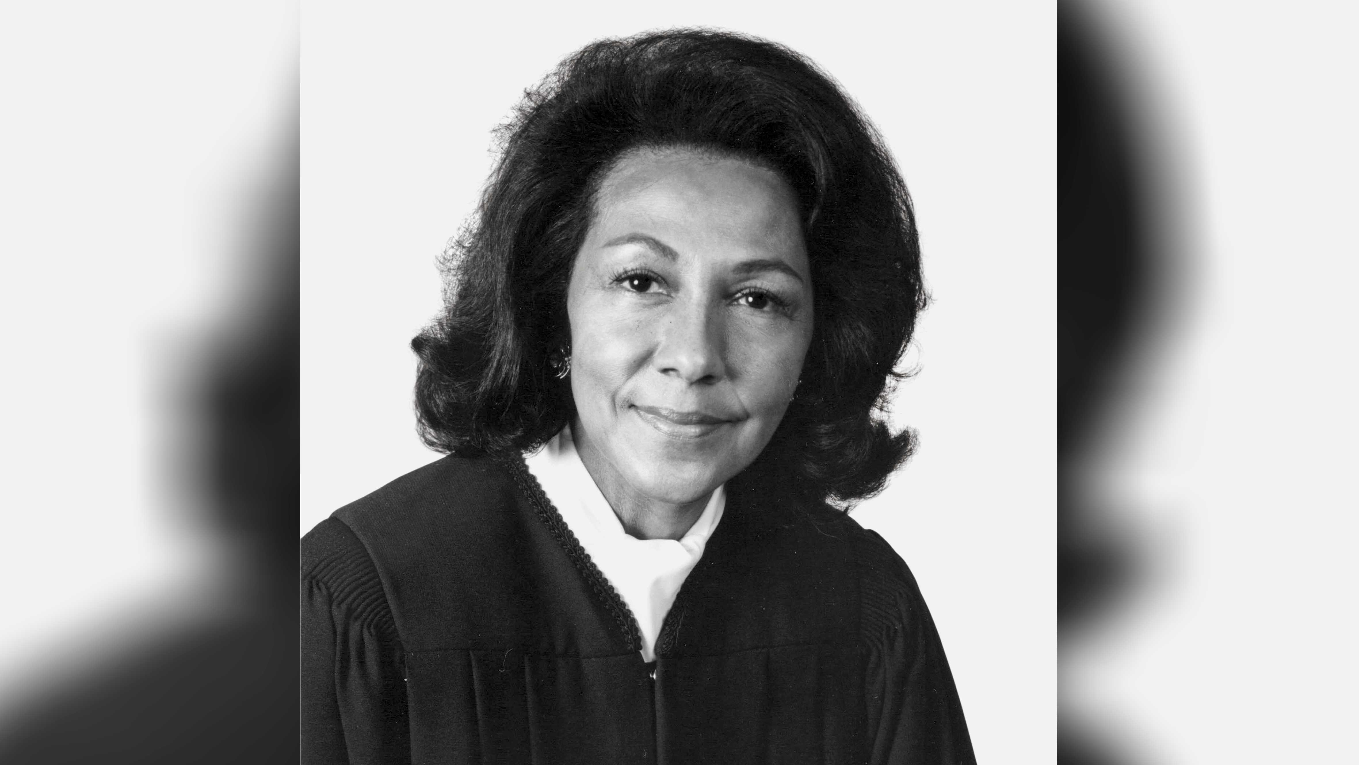 "This 1989 photo provided by Southwestern Law School shows Vaino Spencer, the first female black judge in California and one of the longest-serving jurists in state history. Spencer died of natural causes on Oct. 25, 2016, at the age of 96, her family said. Spencer's niece, Fatimah Gilliam, describes Spencer as ""a trailblazer and a self-made woman in an era when there were few opportunities for women and people of color."""