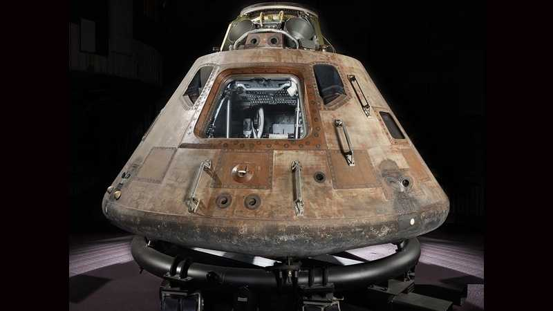 The Apollo 11 command module, Columbia.