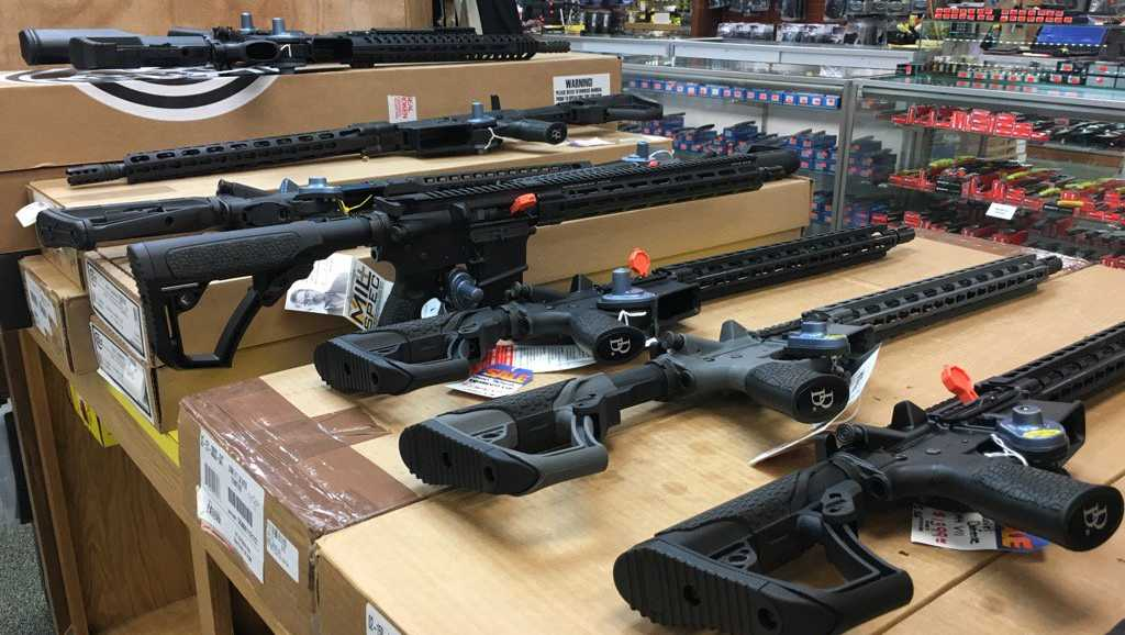 Mark's Outdoor Sports said AR-15s have been flying off the shelves ahead of the Nov. 8 election.