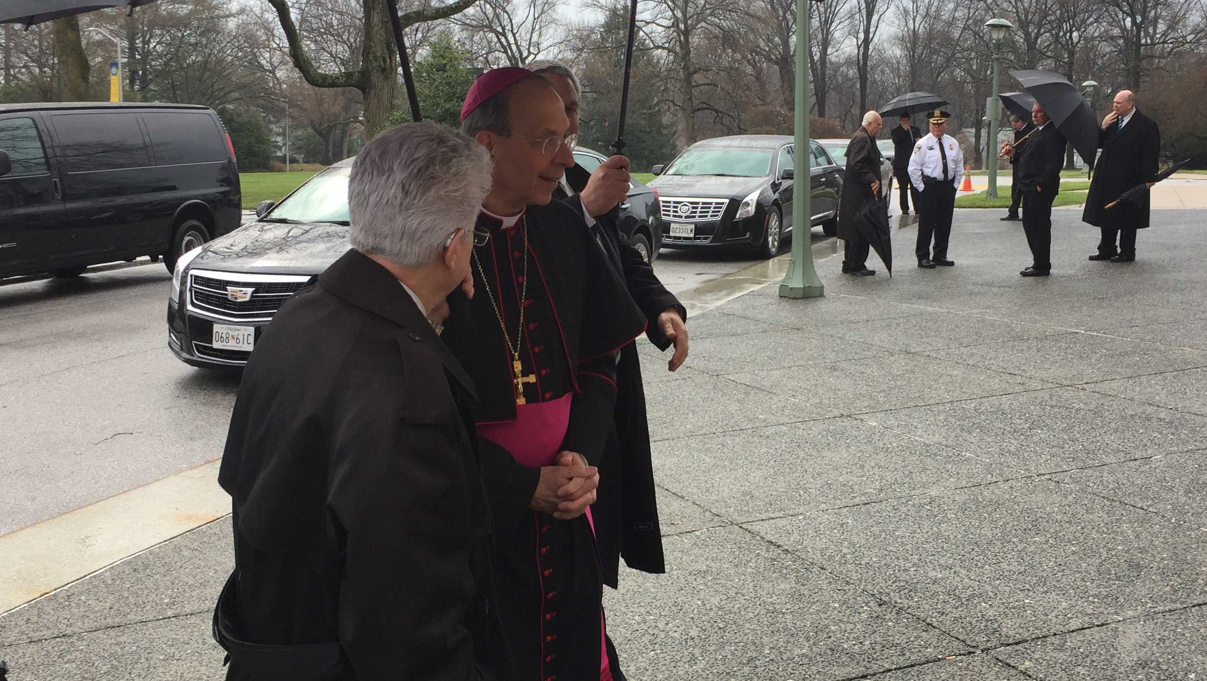 Archbishop Lori arriving