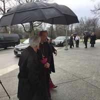 Archbishop Lori arriving