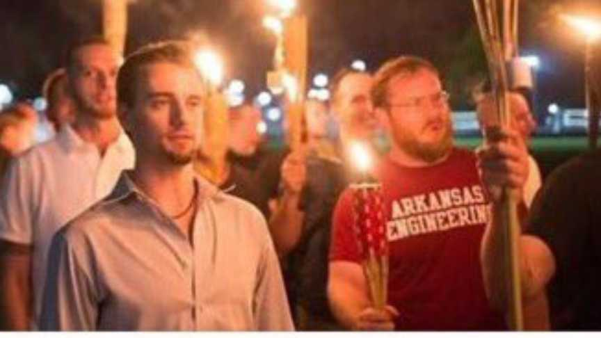 Photo from white nationalist rally in Charlottesville, Virginia