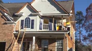 Simpsonville tornado damage