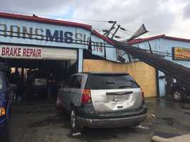 Another auto shop destroyed