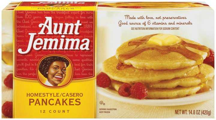 Aunt Jemima frozen pancakes, waffles and French toast