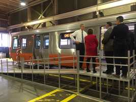 Orange Line train mock-up