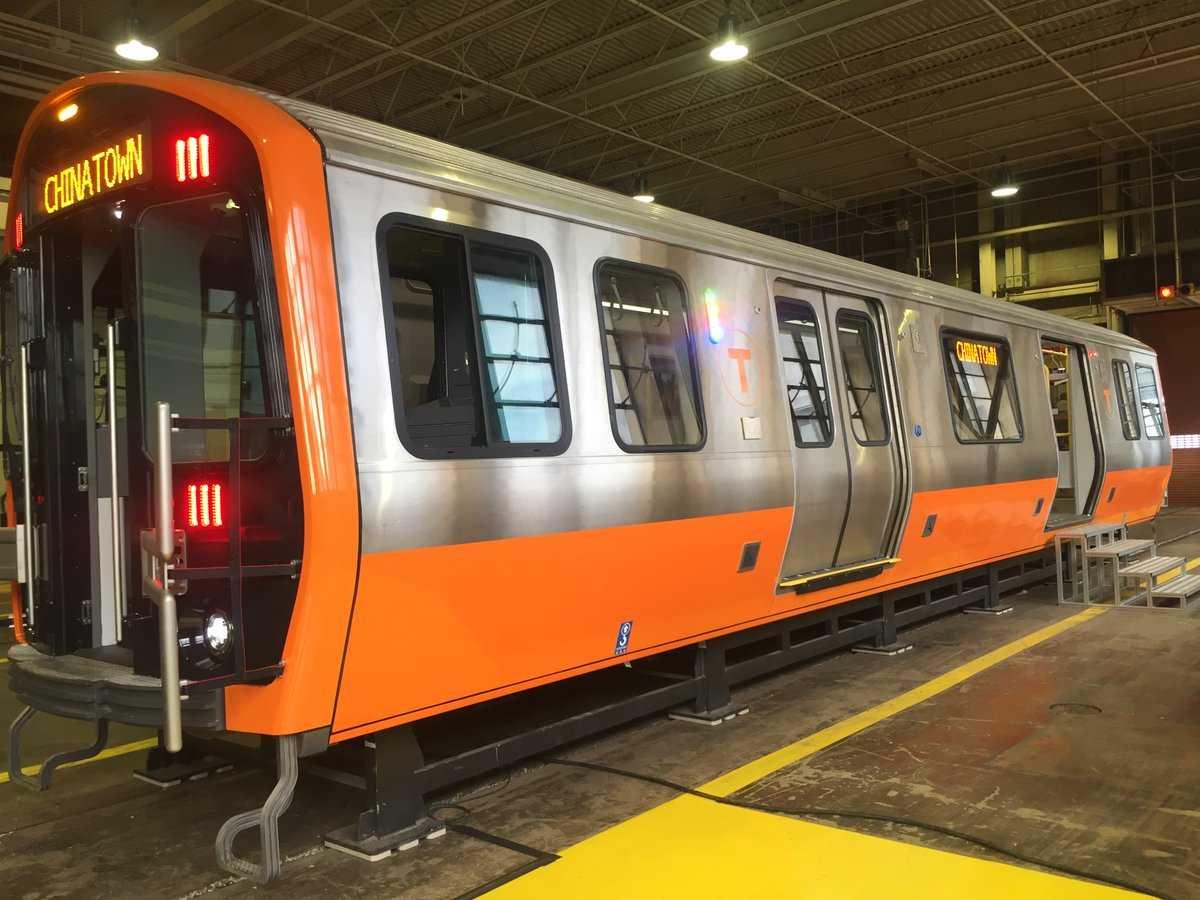 Orange Line train mock-up