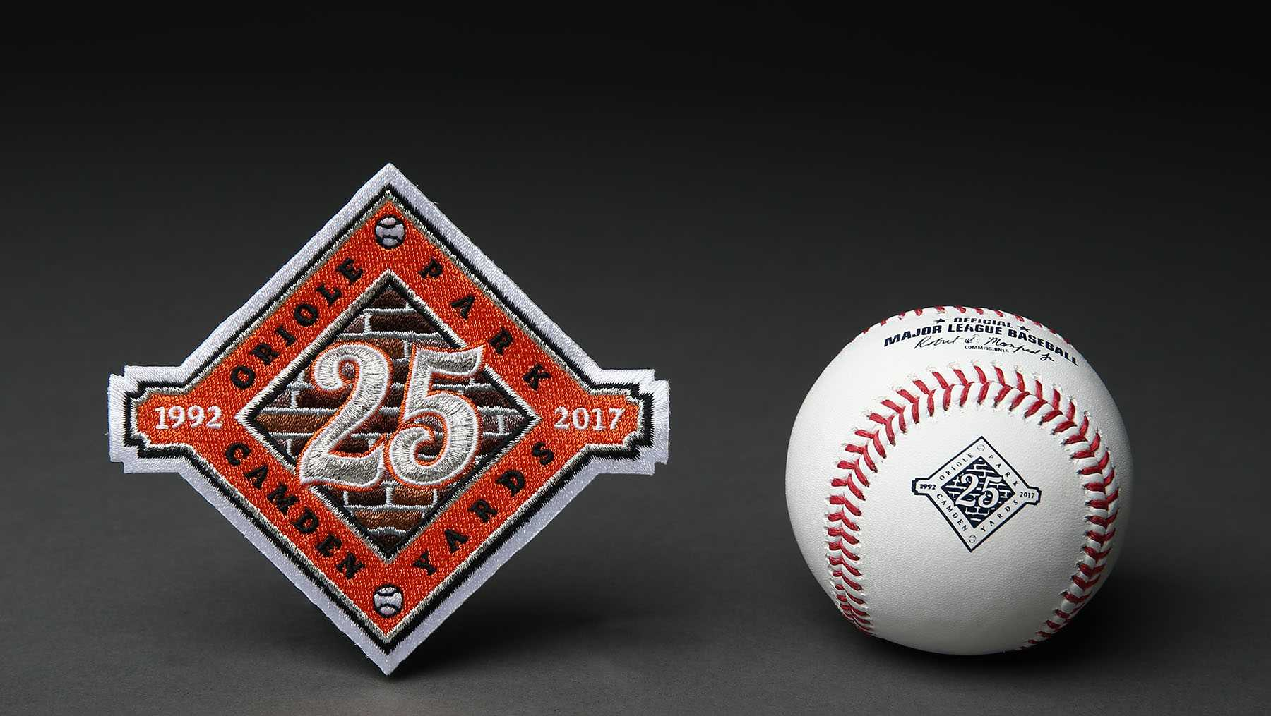 The upcoming 2017 season will mark the 25th anniversary of Oriole Park at Camden Yards,  To commemorate the occasion, the Orioles introduced a commemorative logo.