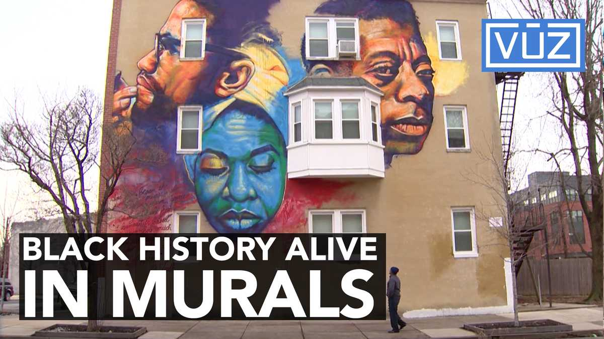 One muralist uses the city of baltimore as his canvas for Black history mural